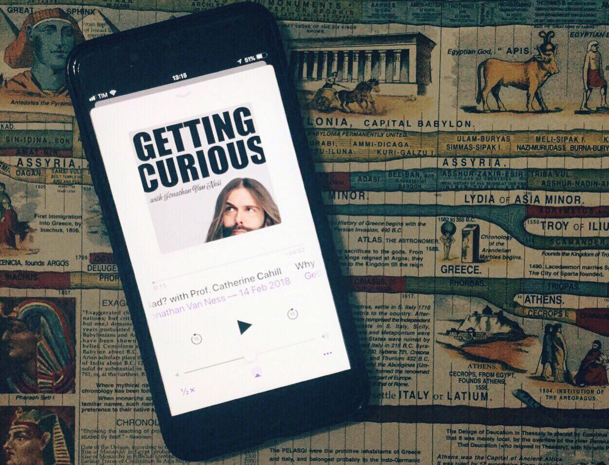Getting Curious with Jonathan Van Ness, um podcast para amar